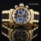 Invicta Specialty Capsule 18k Gold IP Swiss Pts Chrono Blue Dial 46mm Mens Watch