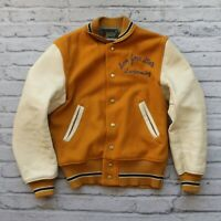 Vintage 60s San Jose State University Wool Leather Varsity Jacket Made in USA