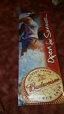 Man Cave Two Sided Beer Sign Budweiser Bud Light