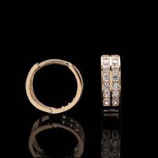 0.50 Ct Round Cut Diamond Huggie Hoop Earrings 14k Yellow Gold Finish Jewelry