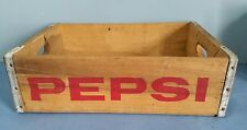 Vintage Wooden/Wood Pepsi-Cola Soda Crate/Box