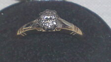 Or 18 ct diamants Vintage Victorien Antique Ring
