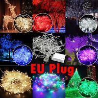 étanche 10M 100LED Ampoules Noël Joli Fée Fête Guirlande Lumineuse prise EU