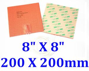 "8"" X 8"" 200 X 200mm 200W 3M Flexible Silicone Heater JSRGO CEUL Heating Pad"