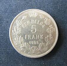 Munt België/Belgique: 5 FRANK 1933 Pos.B (vlaamse legende)