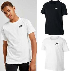 Nike Boys T Shirt Short Sleeve Kids Crew Tee Top Children's Junior Age 8 -15 Yrs
