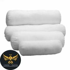 Round Hollowfibre Pillow Cervical Roll Neck Back Knee White Bolster Pillow