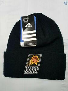 NBA Phoenix Suns Old School Team Logo Classic Black Cuffed Knit Beanie Hat Cap