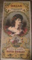 The Belle Of Virginia Tobacco label By David dunlop Petersburg Virginia...