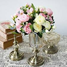 Artificial Silk Peony Flowers Bouquet Fake Leaf Wedding Party Home Decoration
