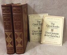 Don Quixote Cervantes 2 vol Franklin Library 25th Anniversary Great Books W/NOTE