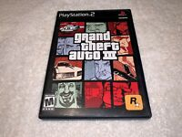 Grand Theft Auto III,3 (Playstation PS2)  Black Label Game in Case w/Manual Nice
