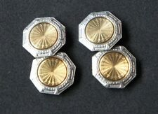 Vintage Antique c. 1920's Deco 14K Gold Cufflinks Marked Z  Ziething & Company?