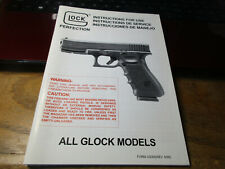 "Glock Owner's Instruction Manual ""All Models"" 42 Pages 1999"