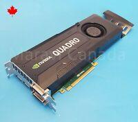 NVIDIA Quadro K5000 4GB GDDR5 PCIe Video Card Display Port DVI HP 701980-001