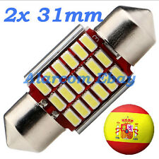 2 x BOMBILLAS LED 31mm C5W Festoon 18 SMD 3014 Canbus No Error #1031