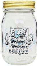 Disney Young Oyster jar Glass bottle Alice in Wonderland Japan NEW Aderia