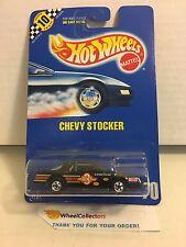 Chevy Stocker #70 * Black * Blue Card Hot Wheels * E37