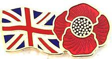 POPPY BRITISH PIN BADGE