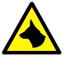 3 x LARGE MAGNETIC DOG WARNING TRIANGLES DOG WARNING- DOG CAUTION (s302)