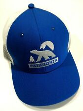 Rare Patagonia Bear Moon Trucker Style Hat Cap White/Blue Snapback