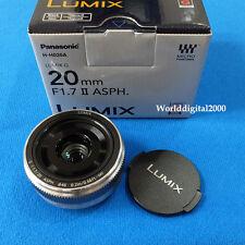 Panasonic Lumix G 20mm F1.7 II Camera H-H020A - Farbe: Silber-Panasonic Retail Box