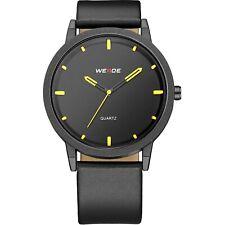 Weide Men's Yellow Relogio Fashion Minimalist Wristwatch New  FREE SHIPPING