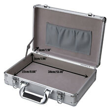 Silver Portable Small Hard Case Aluminum Private Safety Box Carrying Storage Box
