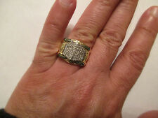 10K Gold Diamond Men's Ring 2.50 Carats White , Green , yellow Genuine Diamonds