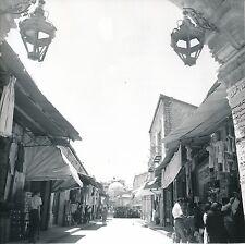 JORDANIE c. 1960 - Les Souks Commerces Église Jérusalem - Div 10171