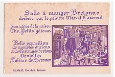 Publicité Salle à manger bretonne Peintre Marcel Laurent - LOCRONAN