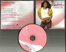 MASHONDA Used to w/ INSTRUMENTAL & MP3 FORMAT PROMO Radio DJ CD Single 2004 USA
