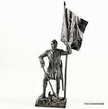 Italy. German Infantryman, 14 Century. Tin toy soldiers. 54mm miniature figurine