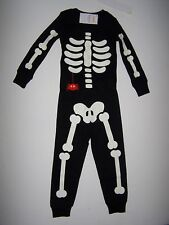 NWT GYMBOREE SKELETON GLOW PAJAMAS GYMMIES ORANGE SPIDER HALLOWEEN BOY SZ 3