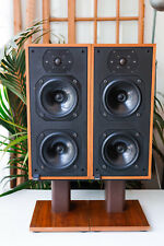 2x B&W DM14 Bowers & Wilkins Vintage Speakers Altavoces Madera DM 14 + Stands