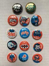 VINTAGE - BATMAN 14 Pin Set - 1966 Robin Joker Riddler
