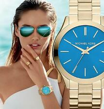 Original Michael Kors Uhr Damenuhr MK3265  Slim Runway Farbe:Gold NEU