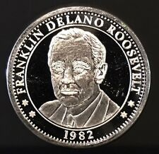 1982 Franklin Delano Roosevelt 100th Anniversary 1 Troy Oz .999 Fine Silver Coin