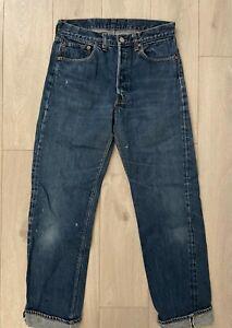 VTG 70s Levi's 501 Redline Selvedge Indigo Blue Denim Jean USA Non LVC Big E 28