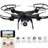 Wide Angle Lens HD Camera Quadcopter RC Drone WiFi FPV Live Helicopter Hover USA