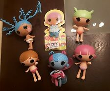 Lalaloopsy Littles LOT EUC Fairy, Tiny Mite, Trouble, Mittens Crazy Hair, Outfit
