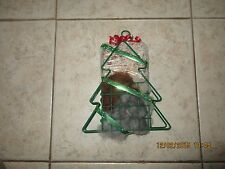 Christmas Tree wire suet feeder/nester with suit and Alpaca fiber for nesting