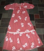 VTG LIBERTY HOUSE OF HAWAII RED WHITE STRIPE MUUMU MUU MUU HOUSE DRESS S / M
