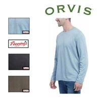 NEW! Orvis Men's Cascade Long Sleeve Crew Neck Shirt VARIETY Size an Color! E21