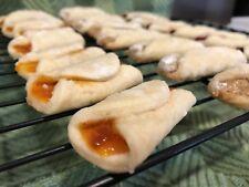 2 Dozen Apricot Kiffles (Hungarian Fruit Roll Cookie)