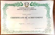 Rare Original Us Army Special Forces Vietnam War Certificate of Achievement Awar