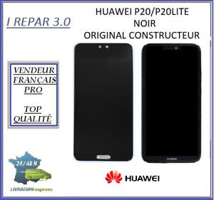 Ecran Lcd origine+vitre tactile Huawei P20/P20Lite Noir/bleu Avec/sans châssis