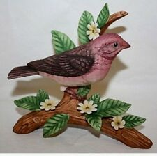 Danbury Mint Purple Finch From 12 Songbird Collection Figurines Porcelain