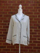 BNWT Gold Hawk Womens White Dot Pyjama Shirt Nightwear Pockets Relaxed Fit S