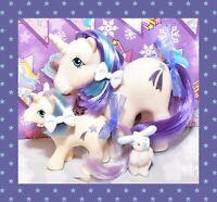 ❤️My Little Pony MLP G1 Vtg MOMMY & BABY GLORY Unicorn Shooting Star Pony Set❤️